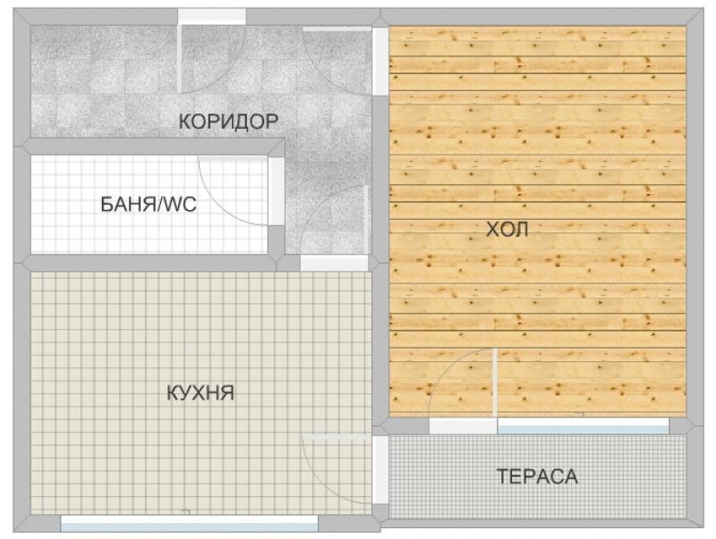 Продажба 1-стаен гр. София - Люлин - 2 50m²