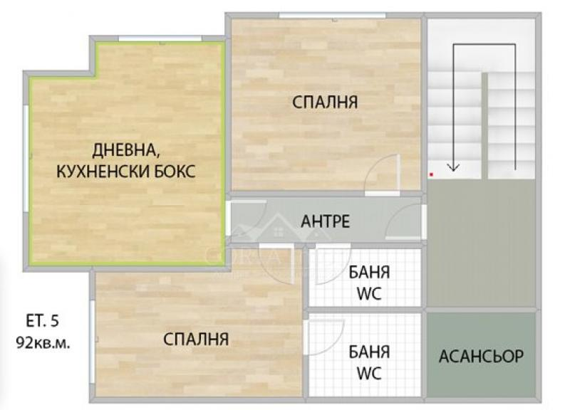 Продажба 3-стаен гр. София - Банишора 92m²